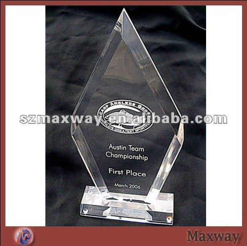 Elegant Diamond Clear perspex Premiums with Your Logo