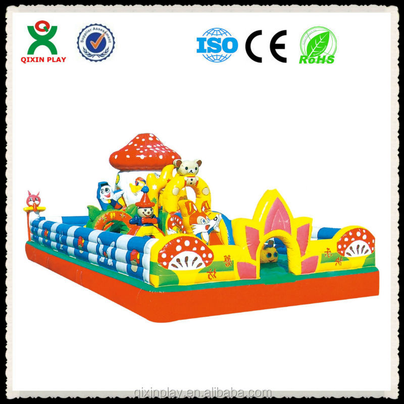 Happy Mushroom Theme Kids Naughty Castle Used Jumping Castles For ...