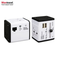 International adapter with WIFI port universal travel adapter with 2 USB output 5V 2.5A charger