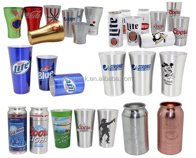 NB-PACK aluminum cups and mug and cans