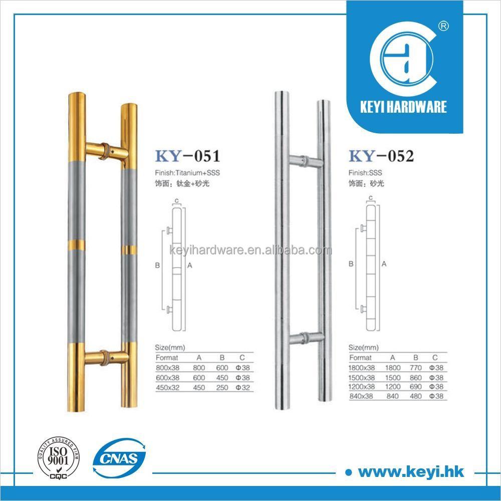 H Type Double Sided Stainless Steel Glass Door Pull Handlessliding