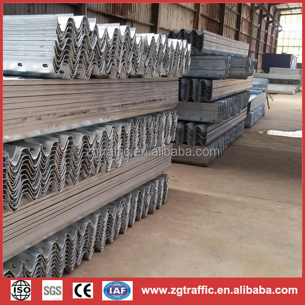 safety steel crash barrier on the road/highway