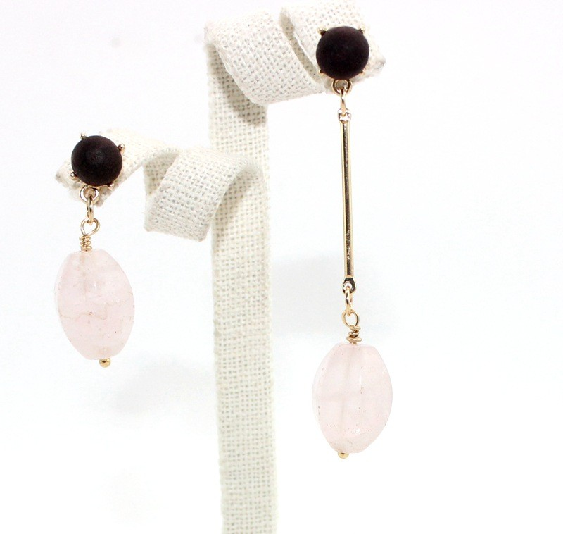 Fashion pink ladies stone earring wholesale BJER-0061