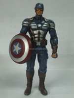 Guo hao hot sale custom 8 inches resin avenger character Captain America marvel figure , lifelike Age of Ultron