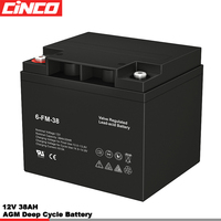 12V 38AH Deep Cycle Solar Storage Battery With Cheap Price for solar power system