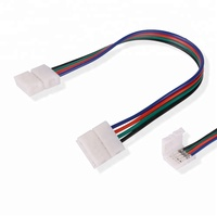 4 Pin RGB Solderless Led Strip Connector 10mm Width Strip To Strip Wire Cable Adapter For 5050