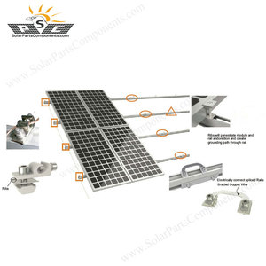home solar energy system pitched roof mounting kit 3KW 1KW Solar Panel Mounting Accessories