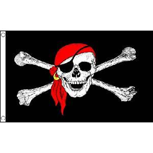 Pirate Bandana Skull Crossbones Pirate Flag 8Ft X 5Ft Bandana Banner 2 Eyelets