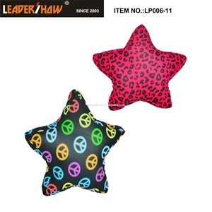 Beautiful decorative soft silicone beads star shaped bath printing pillow