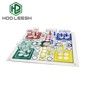 35*35cm Large High Quality Ludo Shot Glass Drinking Ludo chess Game