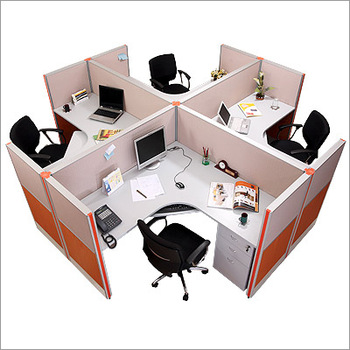 Space Saving Office Furniture Desk Modern Circular Workstation