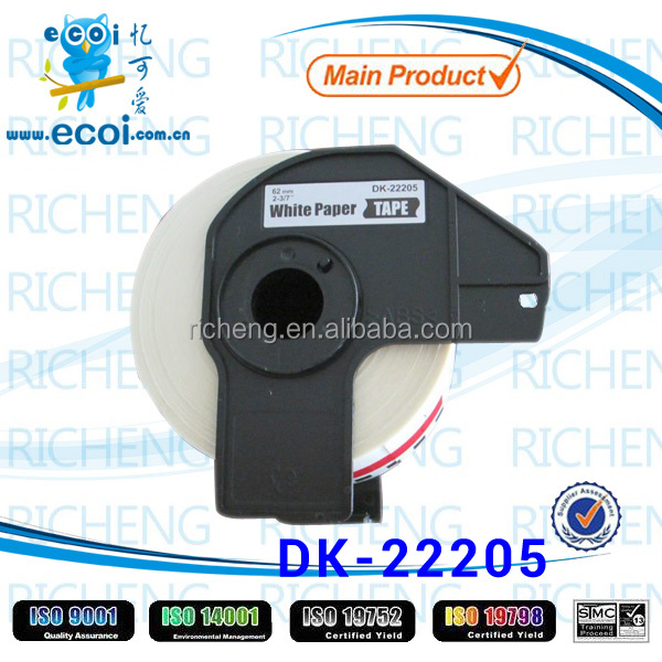 thermal printer ribbon paper dk22205
