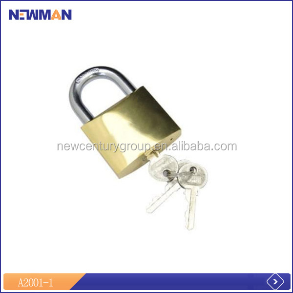 high efficiency color box packing 50mm padlock key with master key