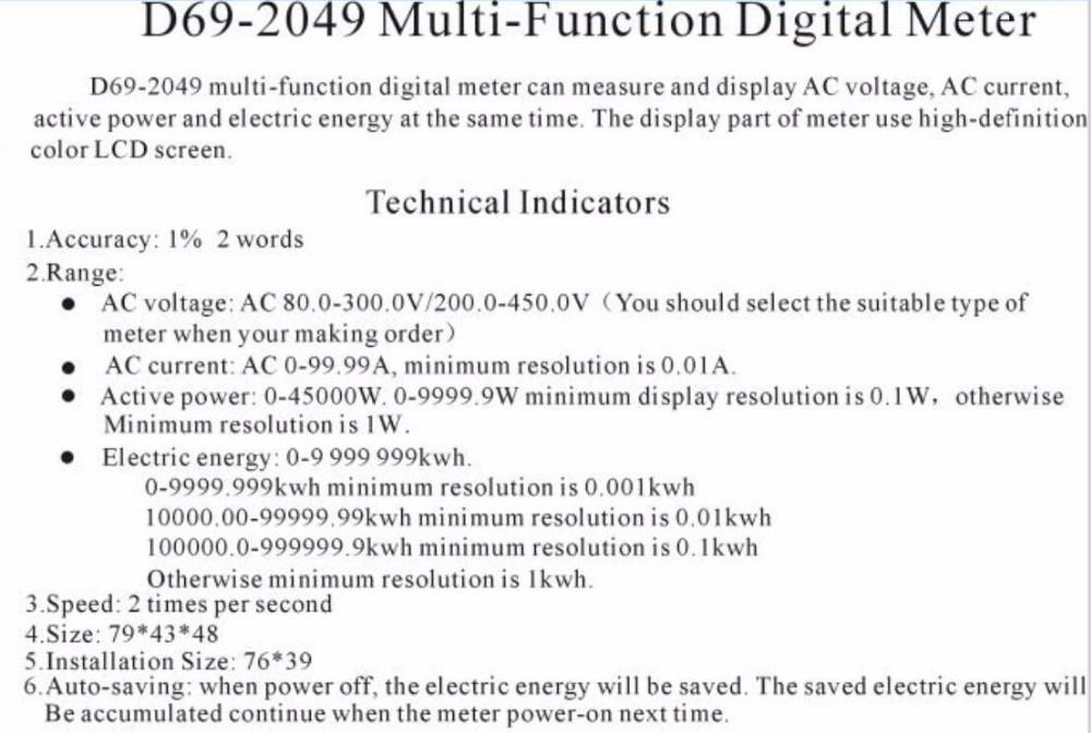 Digital Ac Voltmeter Und Amperemeter D69 2049 Spannung Meter 100a 80 300 V Elektrische Energie Energie Buy Digital Ac Voltmeter Und Amperemeter Voltmeter Und Amperemeter D69 2049 D69 2049 Product On Alibaba Com