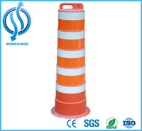 Plastic Traffic Drum / Traffic Barrel / Road Safety Equipment for Sale 1350mm