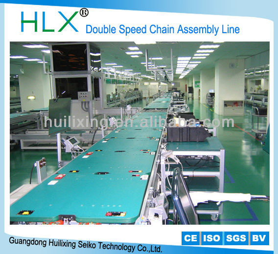 Free Flow Chain Assembly Line Fridge Microwave Oven Assembly Line