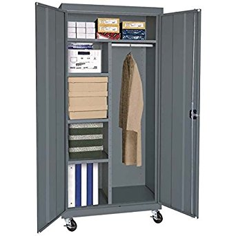 Sandusky Lee TACR362460-02 Transport Series Mobile Combination Storage Cabinet, Charcoal