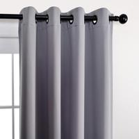 hot selling 100% polyester ready made one piece blackout curtains