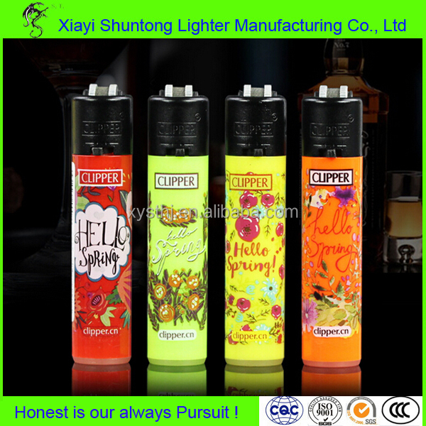Factory cheap disposable plastic clipper lighter wholesale