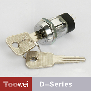 Waterproof Zinc Alloy Cam Lock Switches 19mm Electronic Key Lock Switch