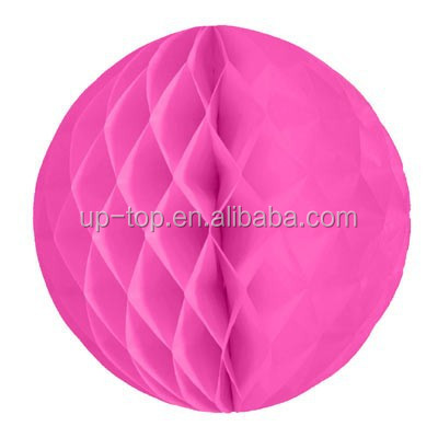 Pink tissue paper handmade hanging honeycomb product decoration