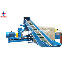 High quality plastic pp woven bags double stage granulating machine with good performance