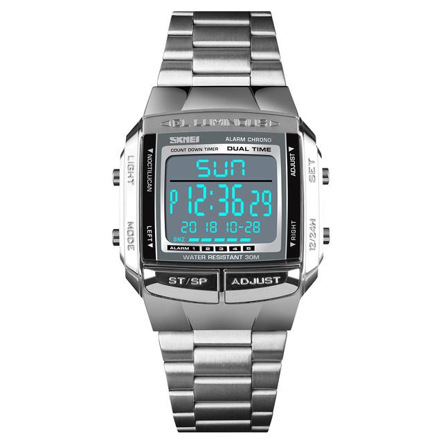 Reloj Digital SKMEI para hombre a prueba de agua cronógrafo vida relojes moda Casual deporte Dual Time Back reloj de pulsera