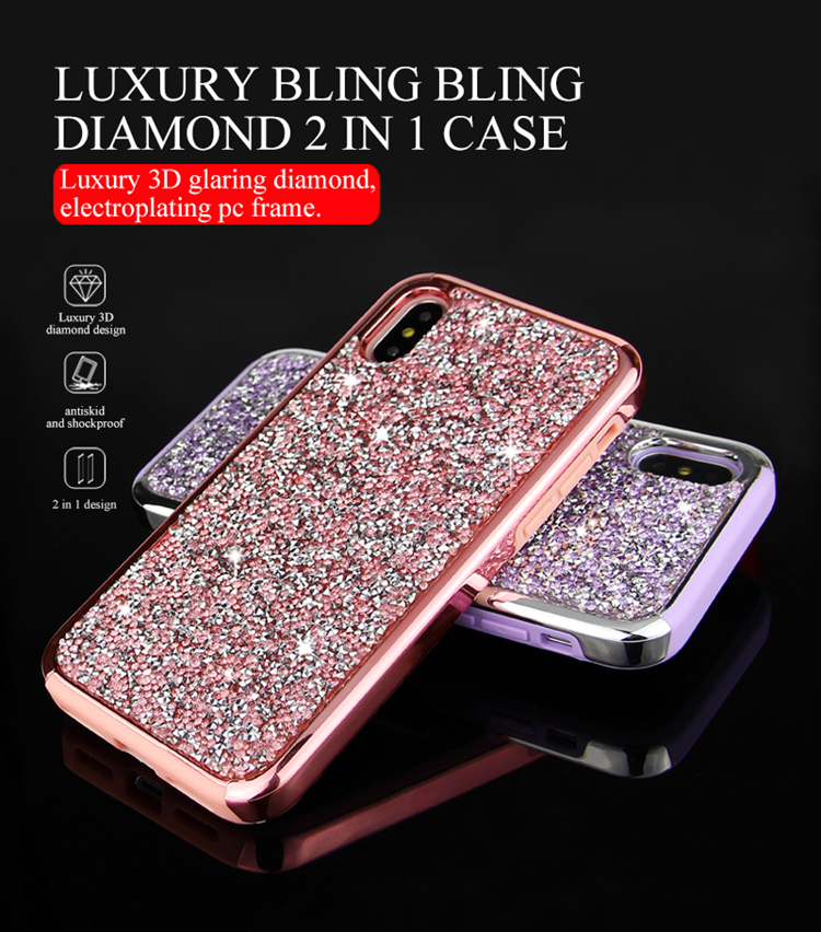 Bling Diamond Phone Cover Fashion Phone Case For Iphone7 plus