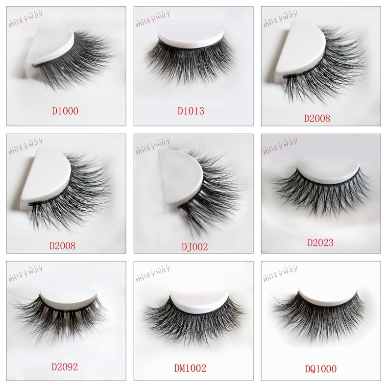 Milkyway mink fur eyelashes 3D strip lashes wholesale mink ...