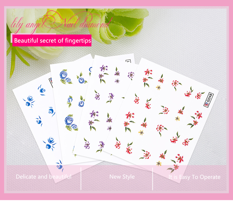 Nail supplies for nail salon decoration water sticker