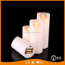 RISING battery operated custom pleasant scent flameless wax led candle with remote control