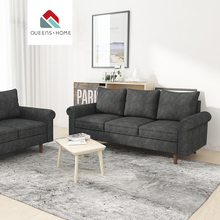 Queenshome black fabric canap 카나페 컨버터블 design <span class=keywords><strong>소파</strong></span> 온 <span class=keywords><strong>소파</strong></span> sets china 현대 living 룸 가구 sofa set