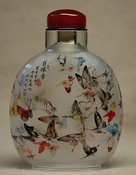 Chinese Antique Hand Painted Snuff Bottle With Painting