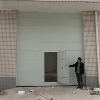 Industrial Sectional Automatic Garage Doors With Pedestrian Door