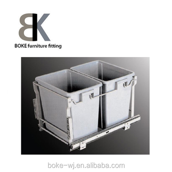 Kitchen Cabinet Slide Open Waste Bin
