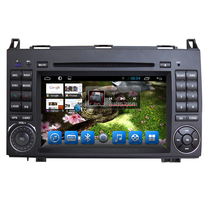 Android 6.0 Manufacturer 7'' 2 Din Car DVD Player GPS Navi Black for Benz Sprinter/B200/Vios 09-16 with Radio Top Quality