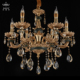 Fairy vintage decorative modern crystal led copper chandelier lighting with remote control
