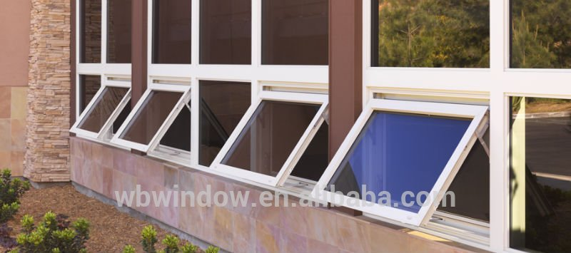 modern house awning window designsupvc vertical swinging casement
