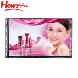 "10"" 1024*768 Open Frame Lcd Monitor Advertising Player With Memory Card / USB Flash Disk"