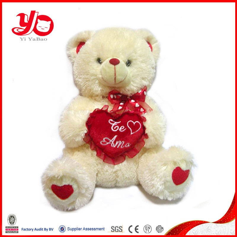 Wholesale Valentine Gifts Stuffed Cute Red Heart Bear Plush