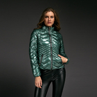 Custom lady winter comfy down jacket shiny oem