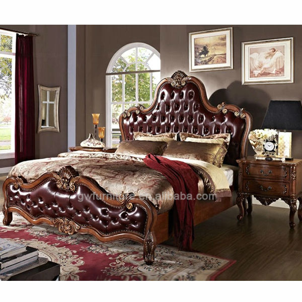antique american style solid wood <strong>bed</strong> A55, bedroom furniture, made in China