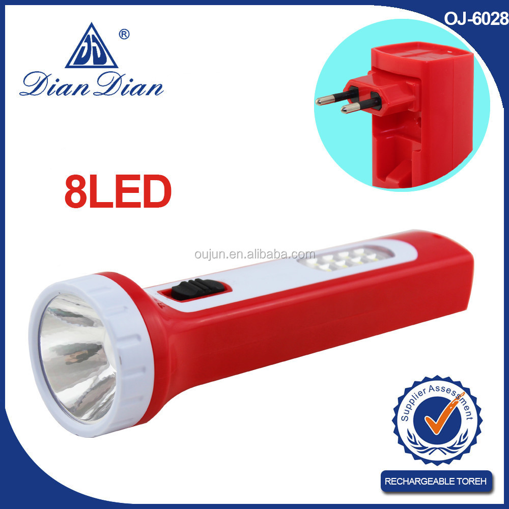 2015 Top Sales Geepas Rechargeable Led Flashlight Made In