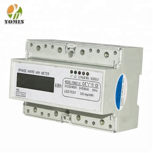 Current Transformer Connect Din Rail Three Phase Four Wire LCD Display Electronic Energy Meter