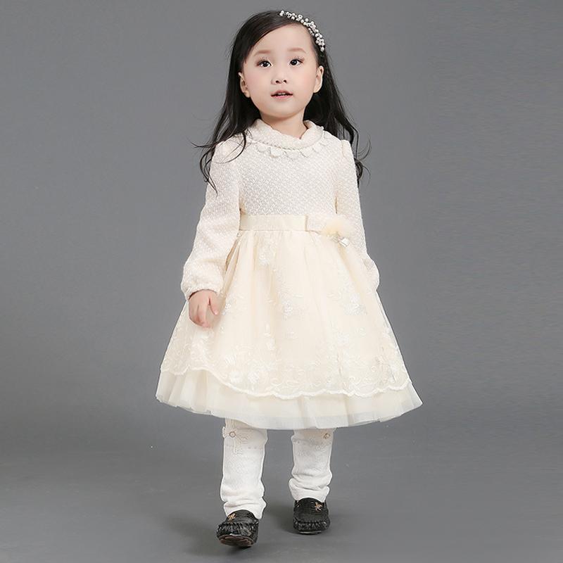 d4b690d84fd2d Une pièce filles robes de soirée robe en laine pour l hiver 3 ans bébé
