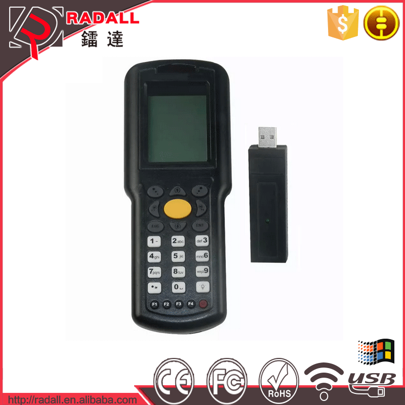 Trade Assurance RD 9800 32bit wireless 1D data collector code bar scanner upload data to excel with keyboard