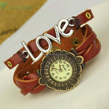 New arrival love bracelet vintage quartz bangle watch for unisex