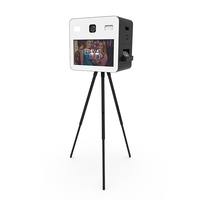 Instant Photo Booth Machine With HD Camera and Dye-sublimation Printer Height adjustable Stand