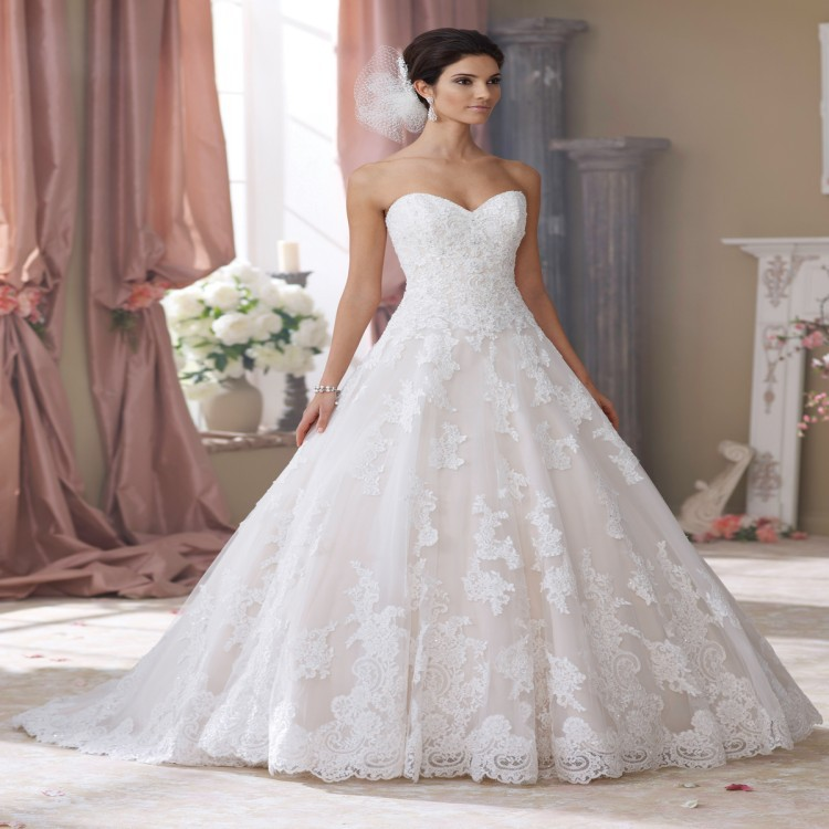Cheap Plus Size Ball Gown Wedding Dresses: Sexy Lace Ball Gown China Wedding Dresses 2015 Princess
