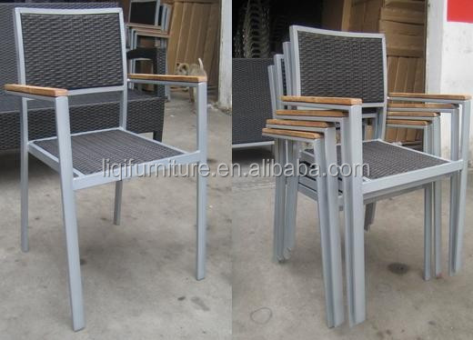 Outdoor aluminum PE rattan chair